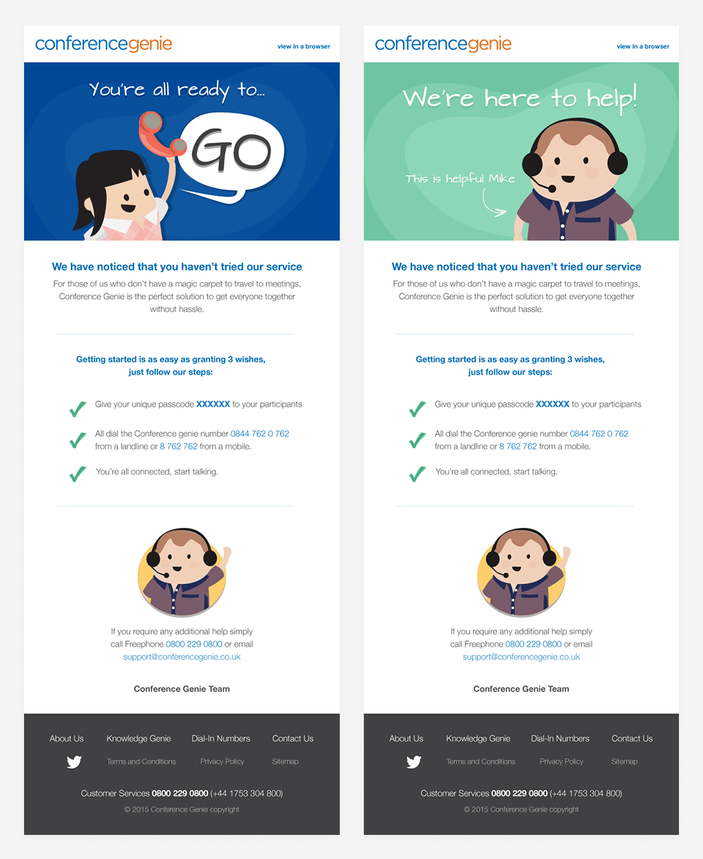 Conference Genie — repsonsive HTML email design