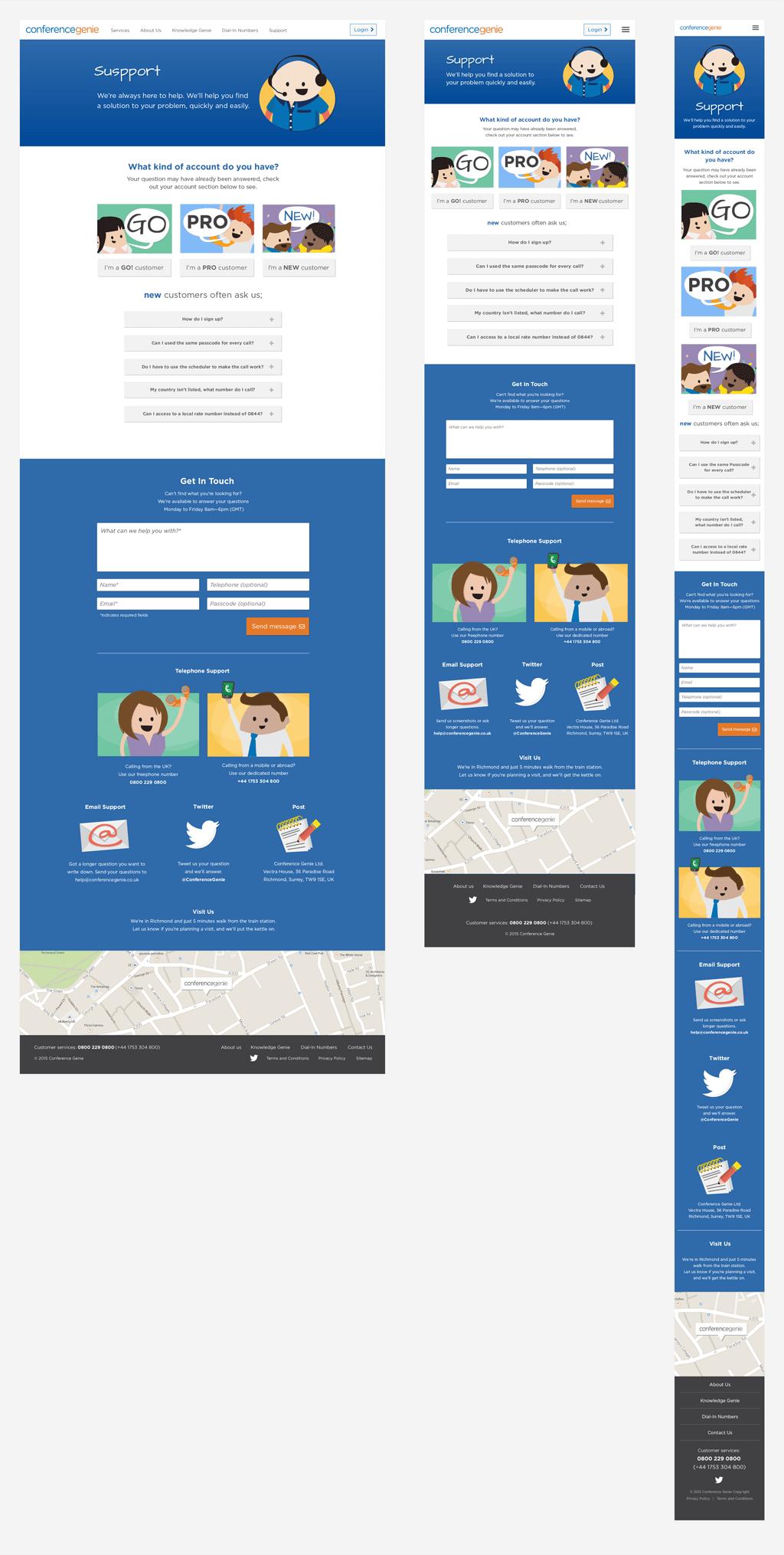 Conference Genie — repsonsive web design