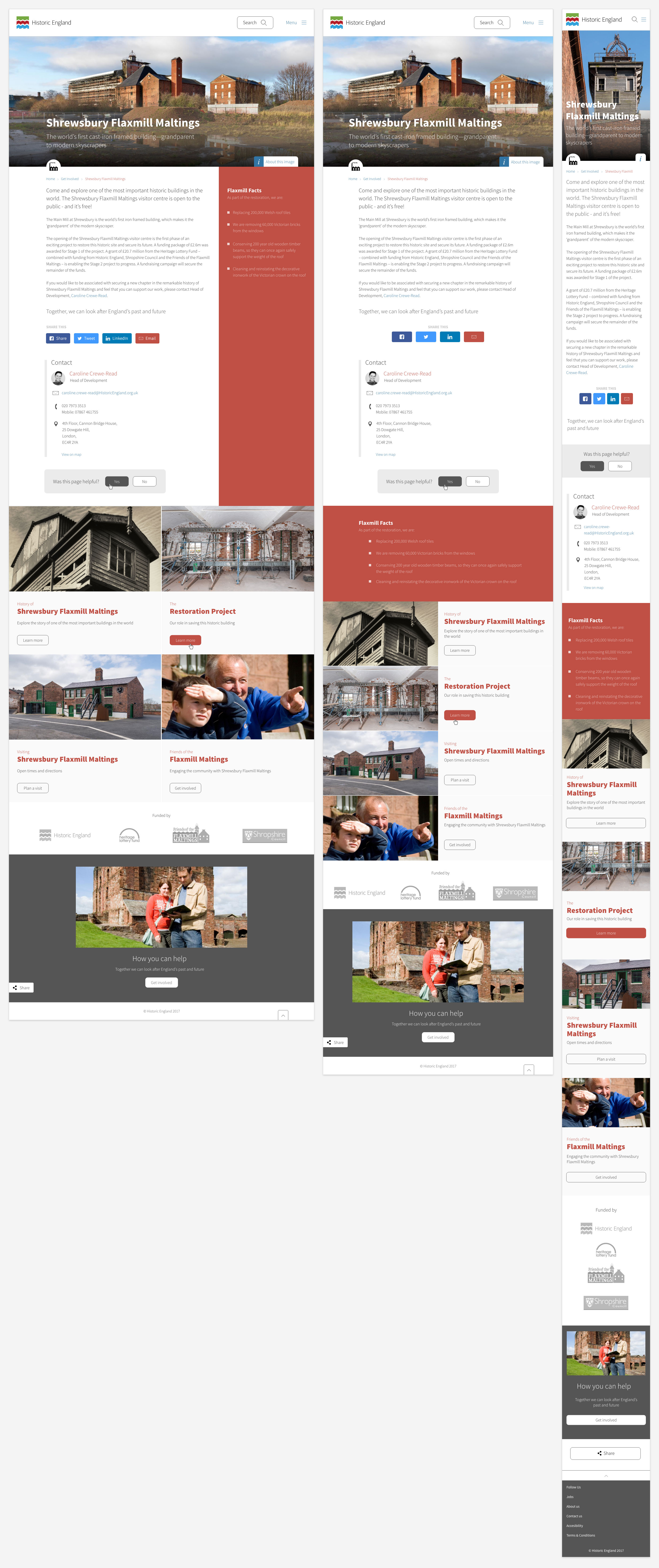Historic England responsive web design