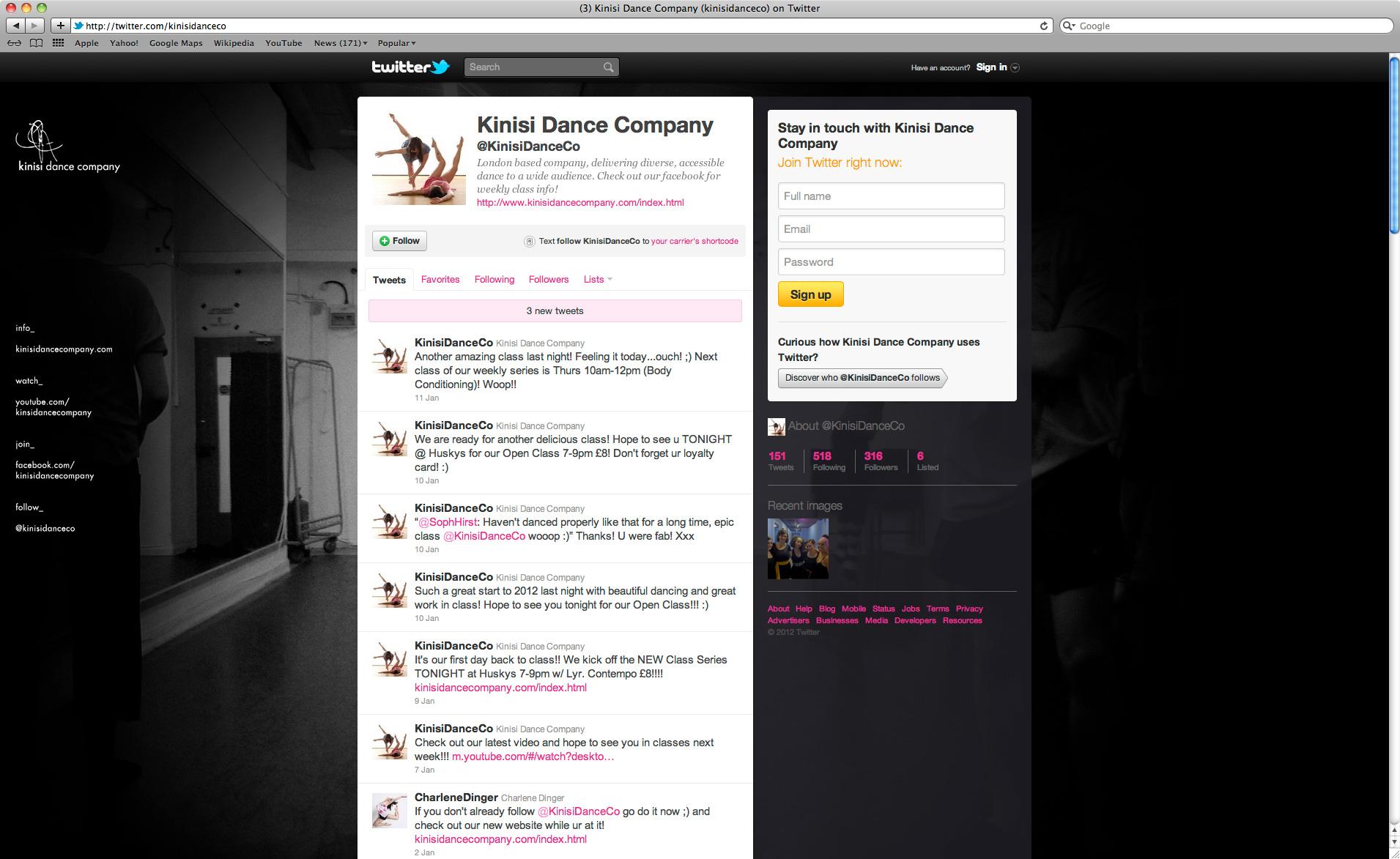 Kinisi Dance Company Twitter 1