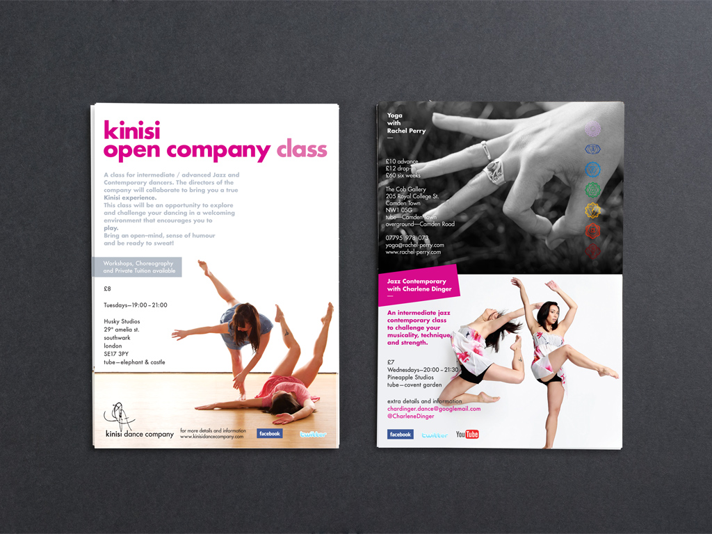 Kinisi Dance Company A5 Flyer