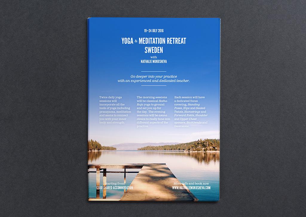 Yoga Retreat Printed Graphic Design